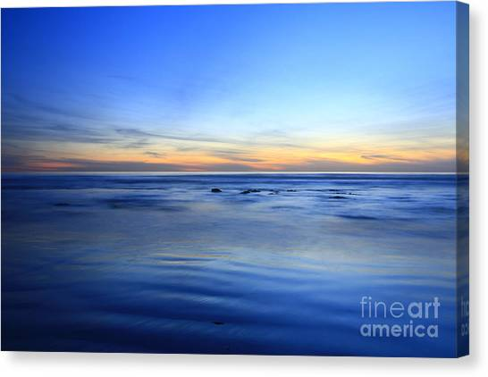 Rocks In Surf Carlsbad Canvas Print