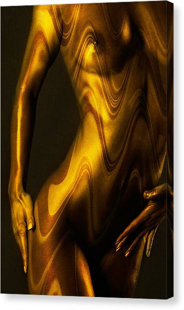Boudoir Canvas Print - Shades Of Caramel by Naman Imagery