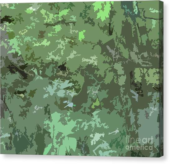 Green Camo Canvas Print - Shades Of Green Camo Abstract Nature Camouflage Design Pattern by Minding My  Visions by Adri and Ray