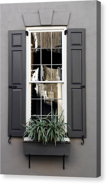 Shades Of Grey In Charleston Canvas Print