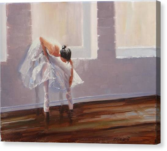Ballet Shoes Canvas Print - Shades Of Lavender by Laura Lee Zanghetti