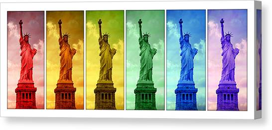Immigration Canvas Print - Shades Of Liberty by Stephen Stookey