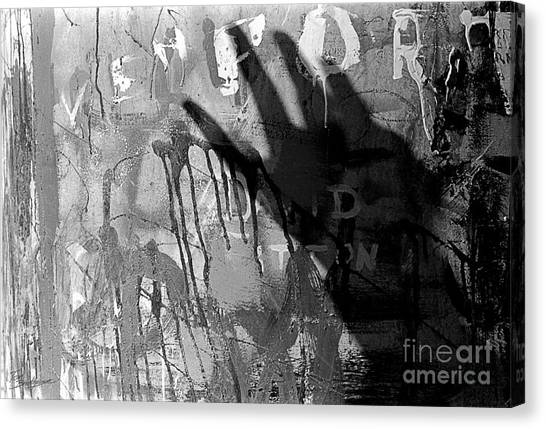 Shadow Abstract Canvas Print