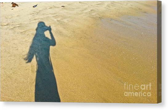 Shadow And Sand Raw Canvas Print