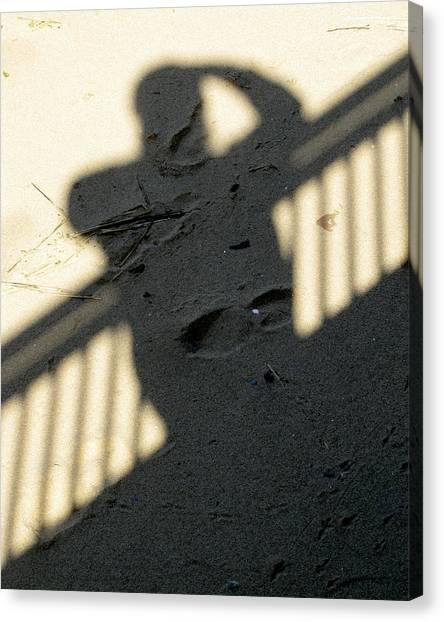 Shadow In The Sand Canvas Print