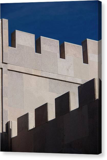 Cellar Canvas Print - Shadow Cast On The Wall Of A Winery by David H. Wells