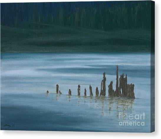 Shadow Host In The Mist Canvas Print