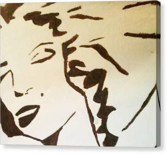 Shadow Monroe Canvas Print by Krystyn Lyon