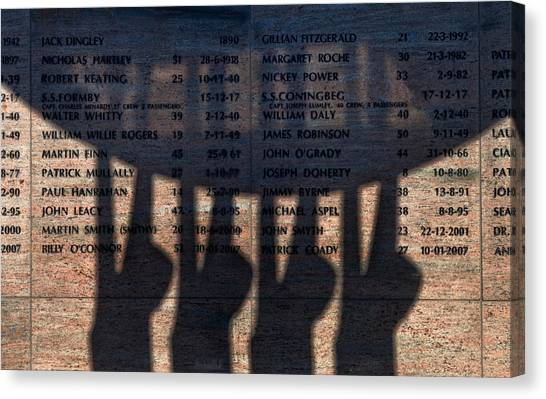 Waterford Canvas Print - Shadow Of The Fishermens Memorial by Panoramic Images