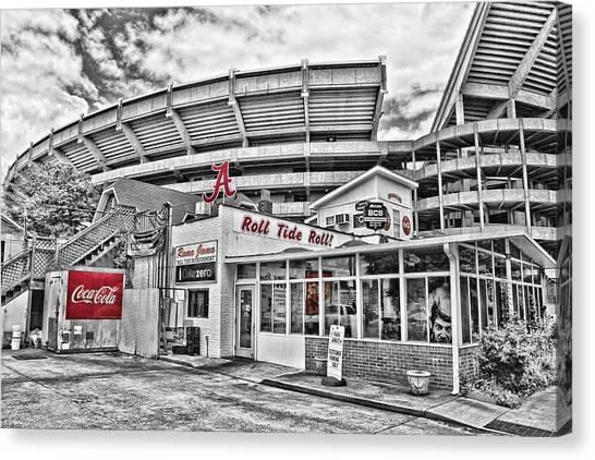 Sec Canvas Print - In The Shadow Of The Stadium - Select Color by Scott Pellegrin