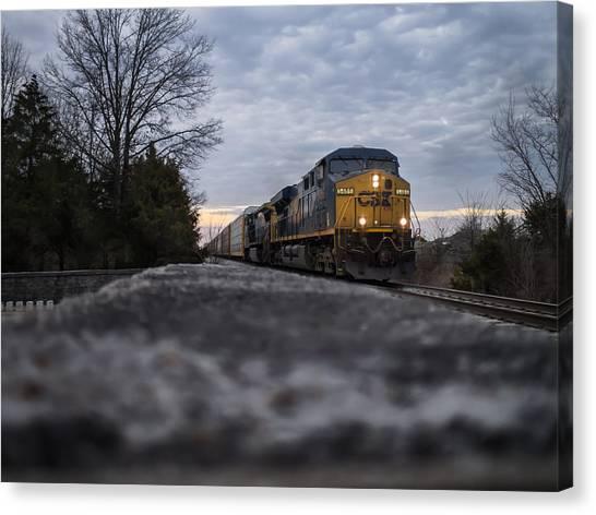 Shadow Train Canvas Print