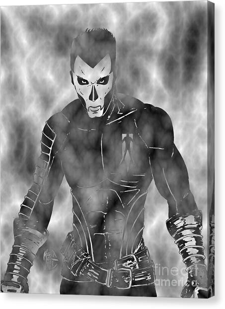 Shadowman In The Dead Grounds Canvas Print