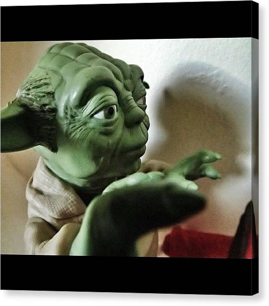 Yoda Canvas Print - Shadowplay: Yoda #starwars #yoda by Sanz Lashley