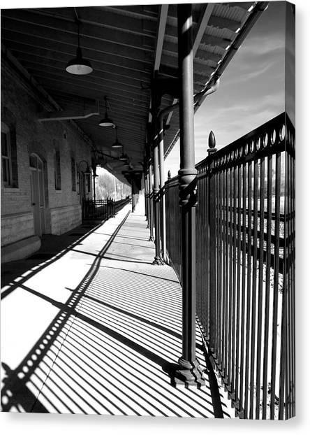 Shadows At The Station Canvas Print