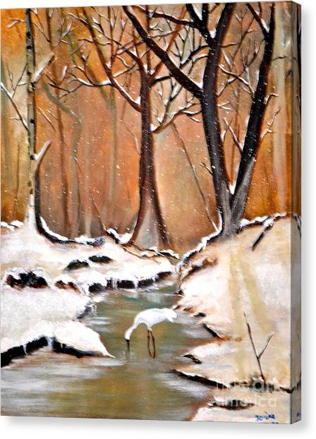 Shadows Beyond Winter Canvas Print
