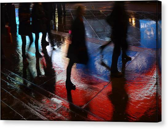 Shadows In The Nigth Canvas Print by Julia Moral