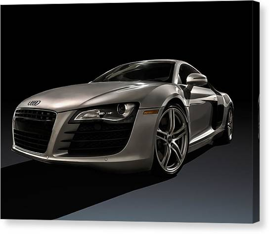 Audi Canvas Print - Shadows Of Silver by Douglas Pittman