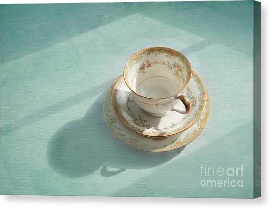 Tea Canvas Print - Shadows Of The Past by Kay Pickens