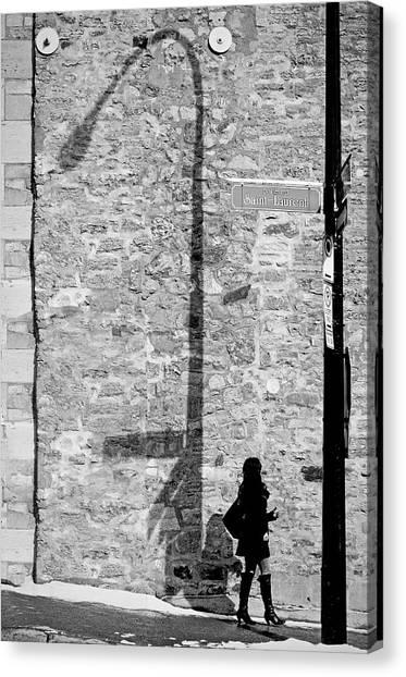 Shadows On St-laurent Canvas Print