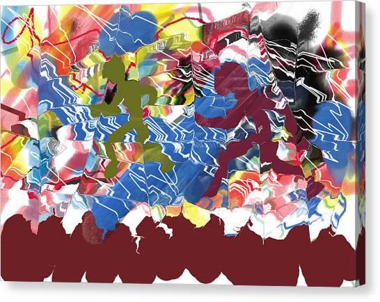 Shadows On The Run Canvas Print