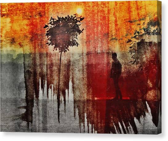 Shadows (one Way) Canvas Print by Dalibor Davidovic