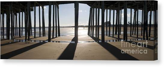 Shadows Under The Pier Canvas Print