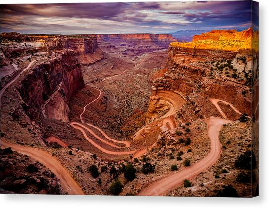 Shafer Trail Horizontal Canvas Print
