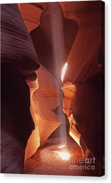 Shaft Of Light Antelope Canyon Canvas Print