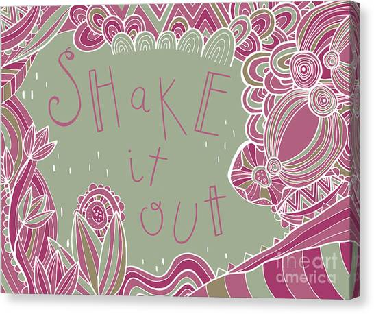 Folk Art Canvas Print - Shake It Out by Susan Claire