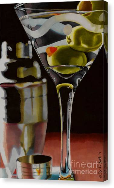 Shaken Not Stirred Canvas Print