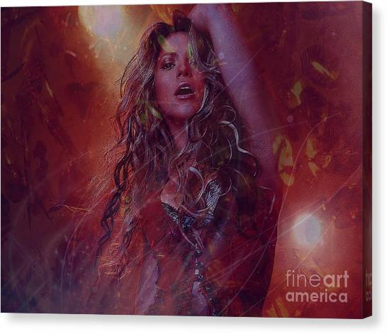 Shakira Canvas Print - Shakira by Jessie Art