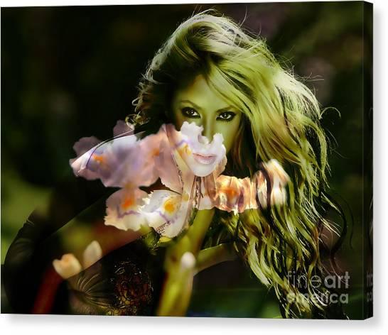 Shakira Canvas Print - Shakira by Marvin Blaine