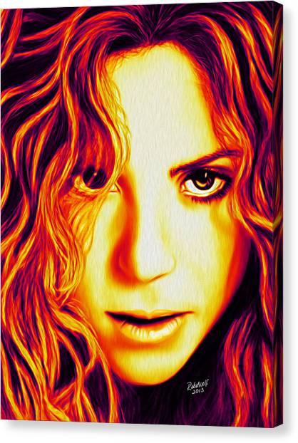 Shakira Canvas Print - Shakira by Rebelwolf