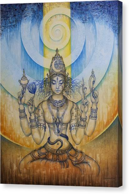 Himalayas Canvas Print - Shakti - Tripura Sundari by Vrindavan Das