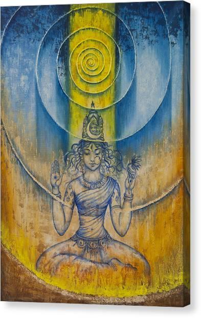 Tantra Canvas Print - Shakti by Vrindavan Das
