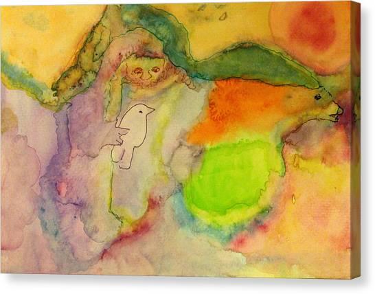 Shaman And Spirit Animals Canvas Print