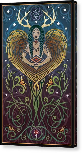 Art Nouveau Canvas Print - Shaman by Cristina McAllister