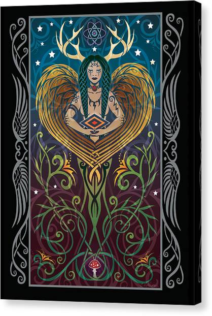 Art Nouveau Canvas Print - Shaman V.2 by Cristina McAllister