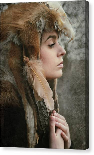Skulls Canvas Print - Shaman by Cambion Art