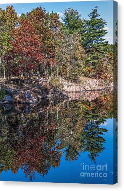 Shambeau Park Fall Reflection Canvas Print