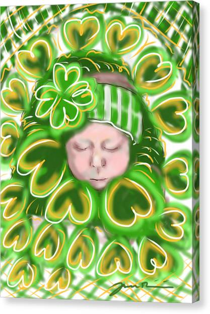 Shamrock Baby Canvas Print