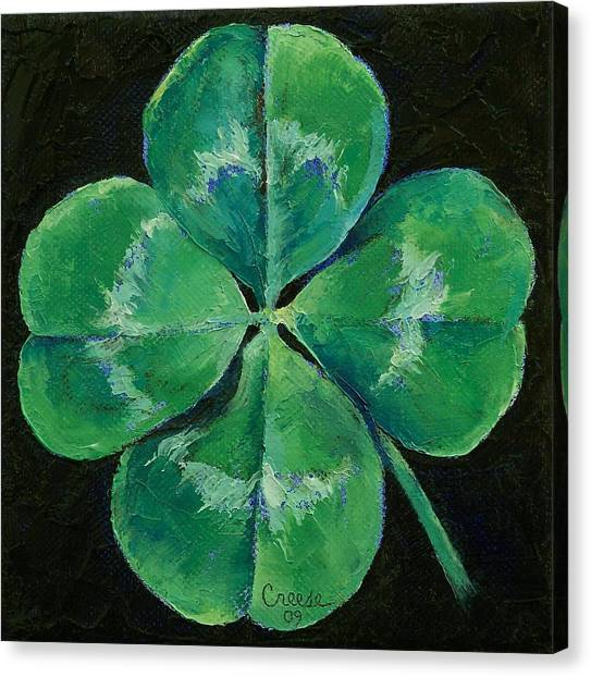 Patrick Canvas Print - Shamrock by Michael Creese