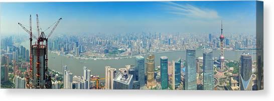 Shanghai Panorama Canvas Print
