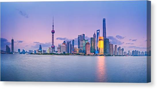 Shanghai Pudong Skyline  Canvas Print