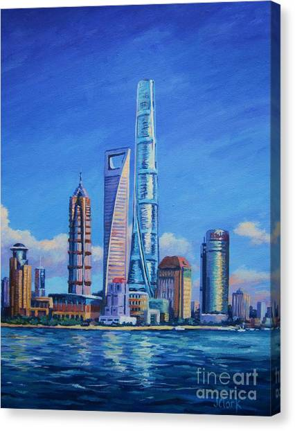 Bund Canvas Print - Shanghai Tower by John Clark