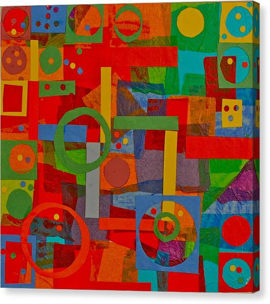 Shapes In Hues In Motion Canvas Print by Patrick Beamish