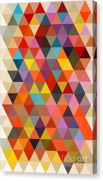 Abstract Art Canvas Print - Shapes by Mark Ashkenazi