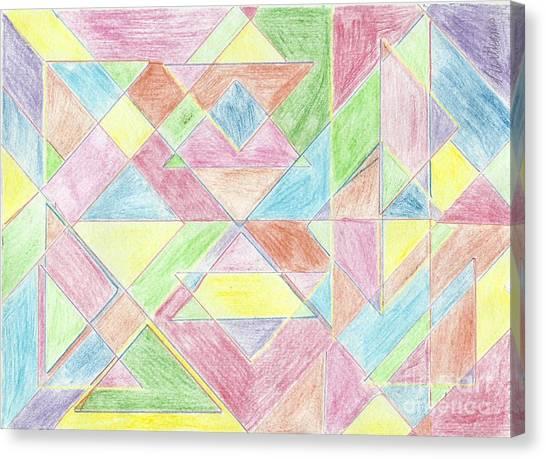 Shapes Of Colour Canvas Print