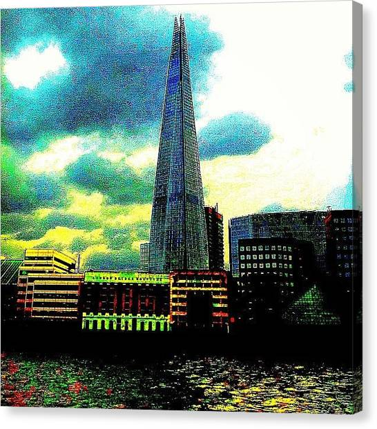 Abstract Skyline Canvas Print - Shard by Urbane Alien