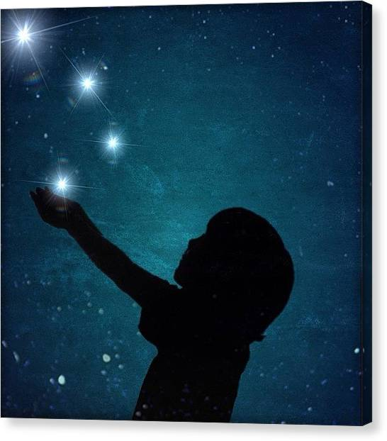 Starry Night Canvas Print - Share: #iphoneart Took This In Front Of by Nicole Dalesio